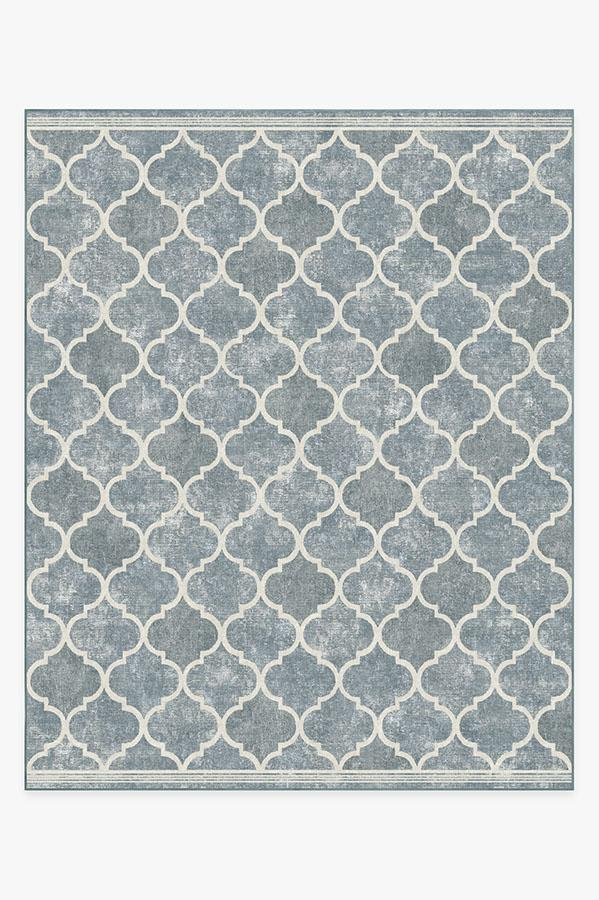 Washable Rug Cover & Pad | Terali Slate Rug | Stain-Resistant | Ruggable | 8'x10'