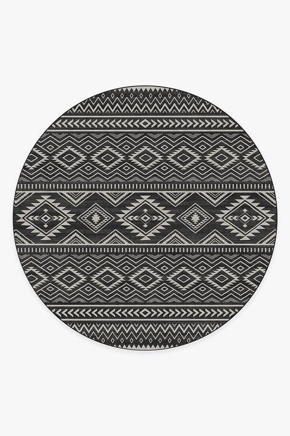 Washable Rug Cover | Arizona Black Rug | Stain-Resistant | Ruggable | 8' Round