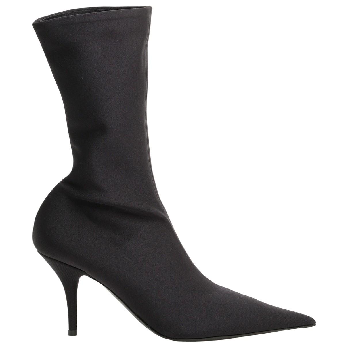 Balenciaga Knife Black Ankle boots for Women 38 EU