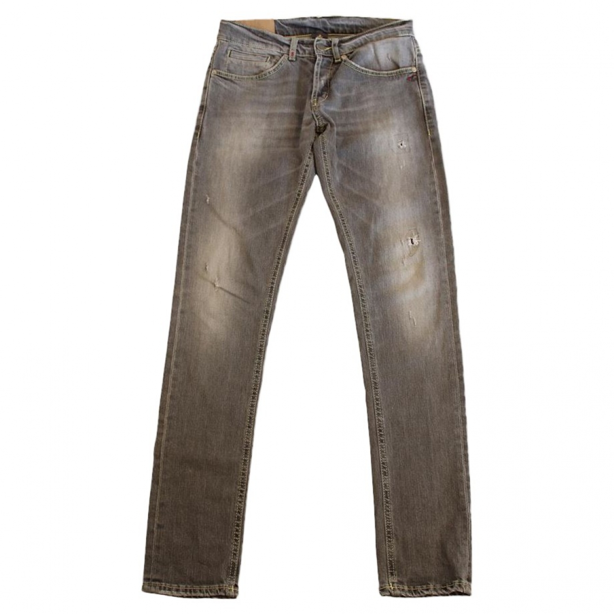 Dondup \N Brown Denim - Jeans Trousers for Women 44 IT