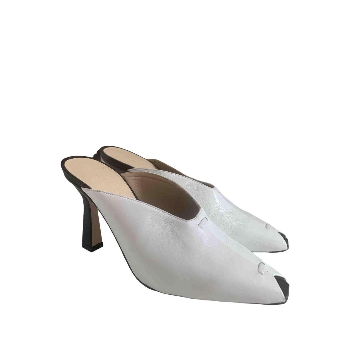 Wandler - Sandales   pour femme en cuir verni - blanc