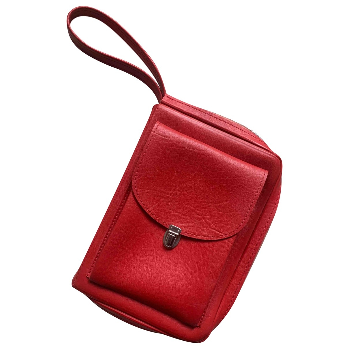 Non Signe / Unsigned \N Clutch in  Rot Synthetik