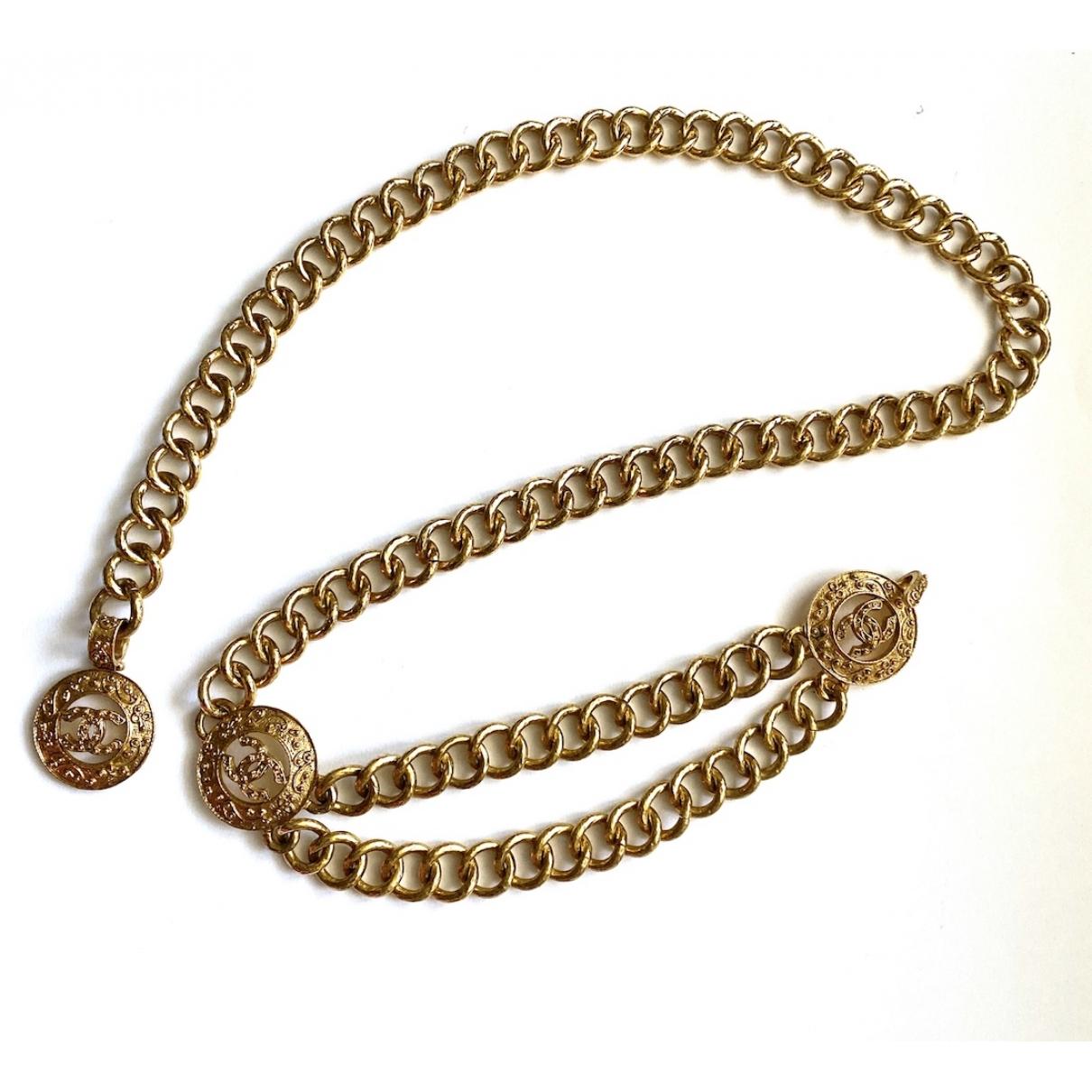 Chanel \N Gold Metal belt for Women 95 cm