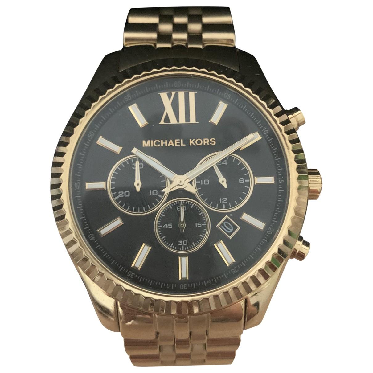 Michael Kors \N Gold Steel watch for Men \N