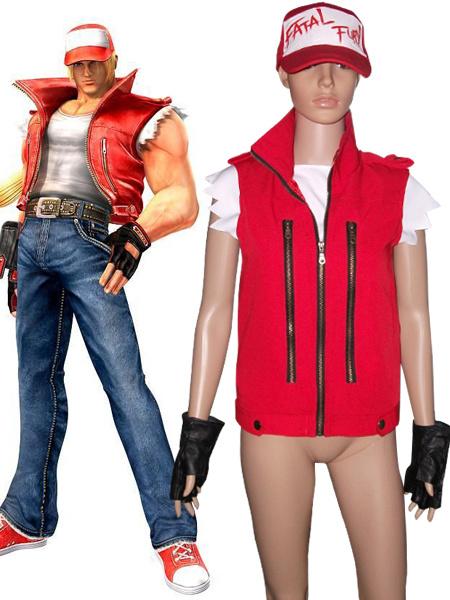 Milanoo Halloween Traje moderno de Terry Bogard para cosplay de The King of Fighters