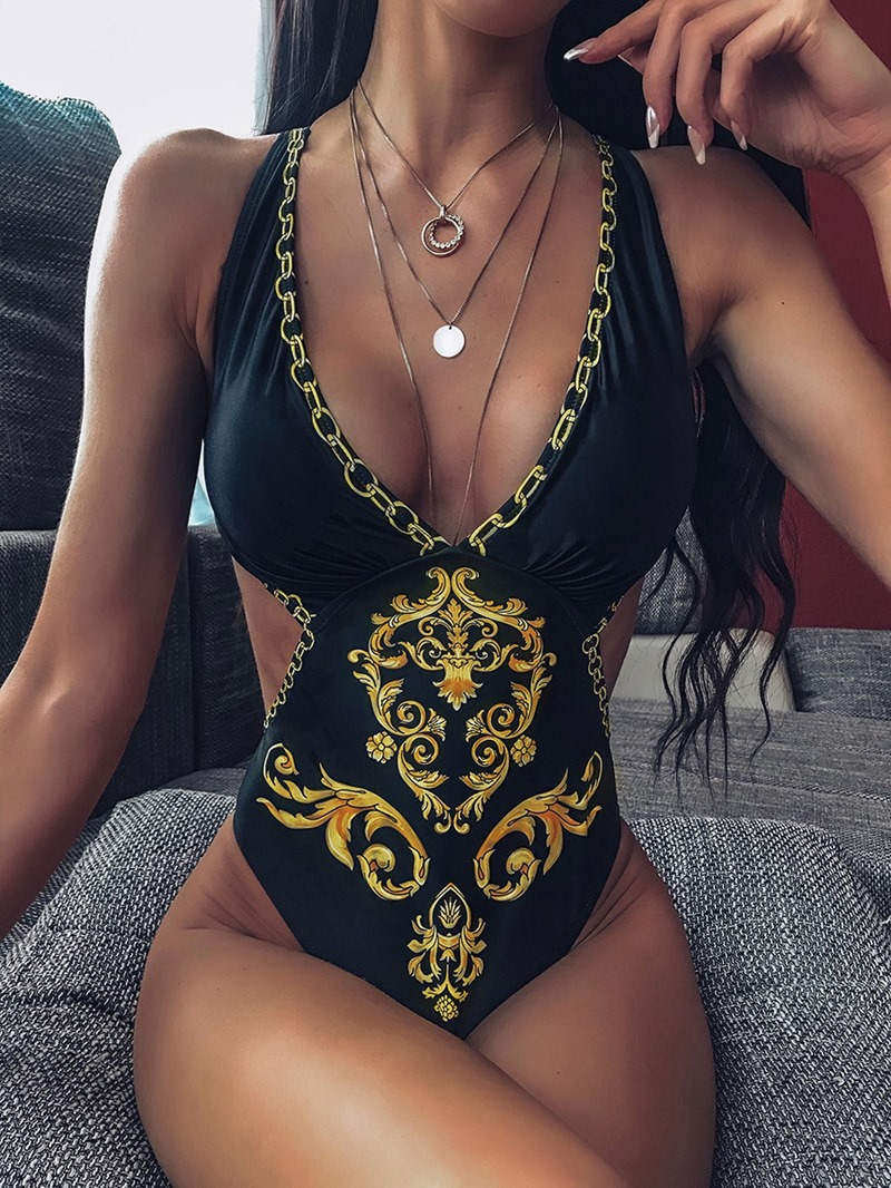 Ericdress African Fashion Dashiki One Piece Print Swimwear