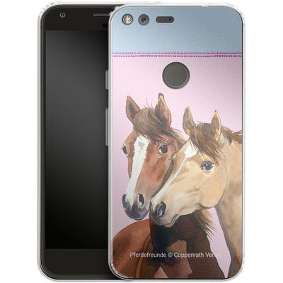 Google Pixel XL Silikon Handyhuelle - Pferdefreunde Rosa von Pferdefreunde