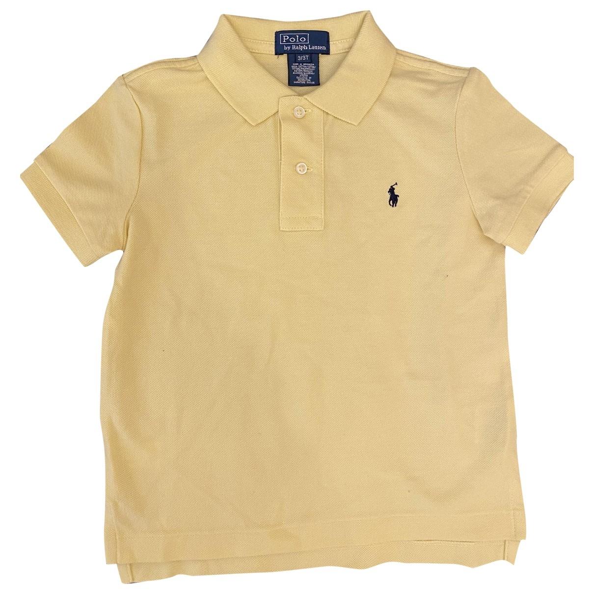 Polo Ralph Lauren - Top   pour enfant en coton - jaune