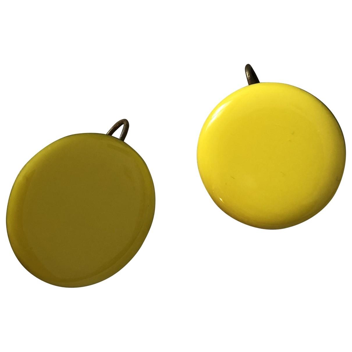 - Boucles doreilles   pour femme en metal - jaune