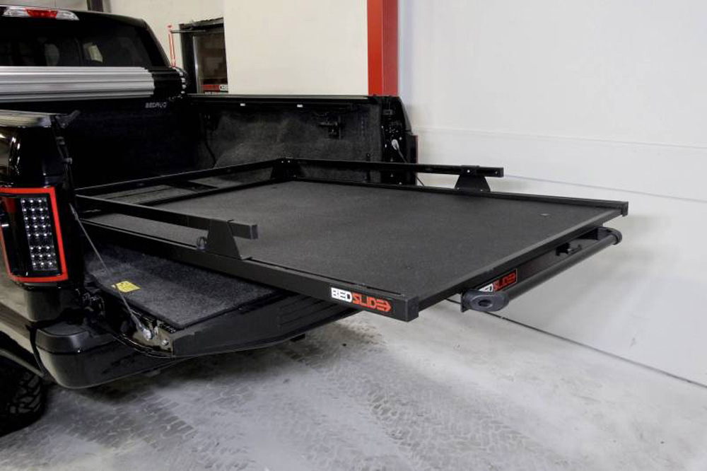 BedSlide 15-9548-CGB Contractor 95 Inch x 48 Inch Black 8 Foot Longbed Chevy/Dodge/Ford/Nissan/Toyota