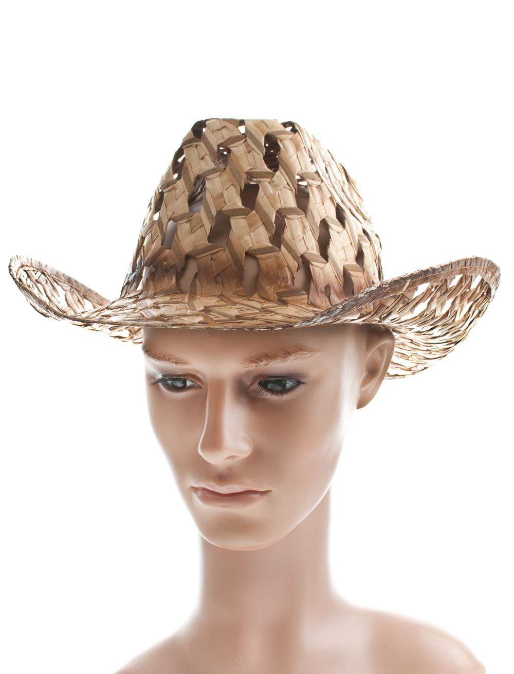 Kostuemzubehor Cowboyhut Crocodile Farbe: braun