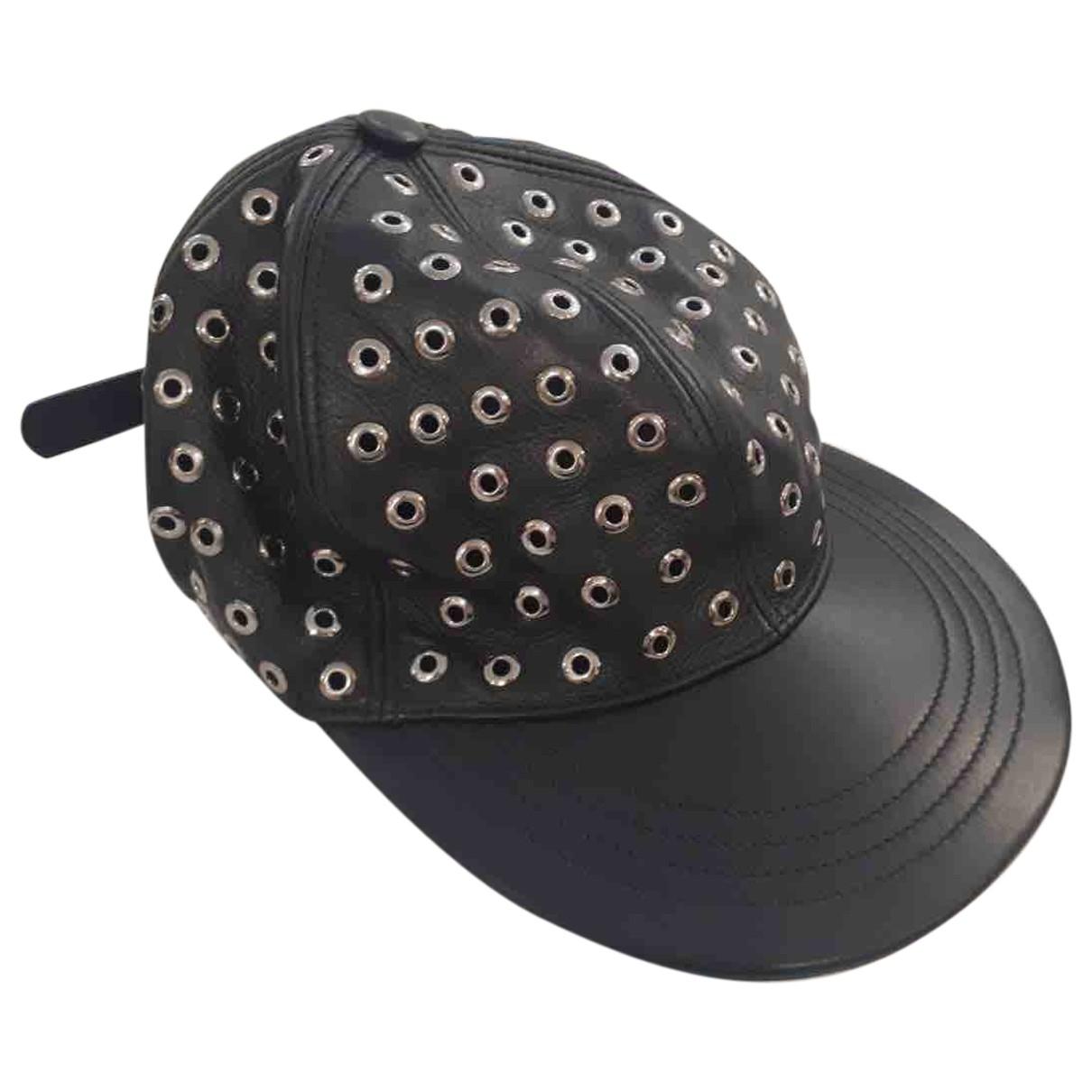Red Valentino Garavani \N Black Leather hat for Women M International