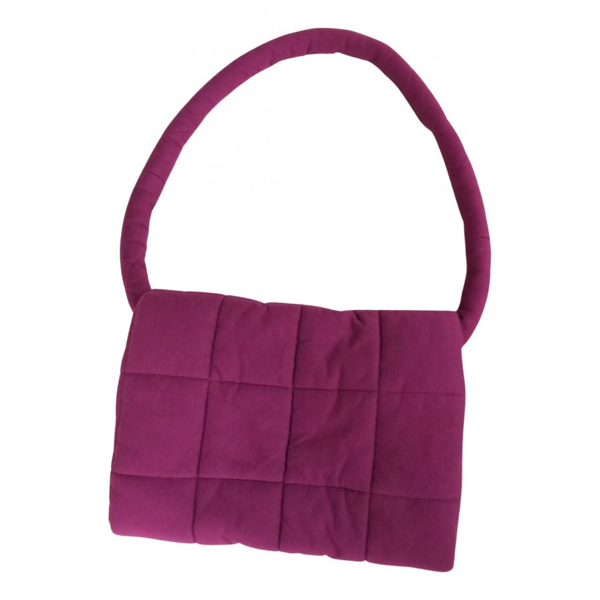 Mm6 - Sac a main   pour femme en toile - rose
