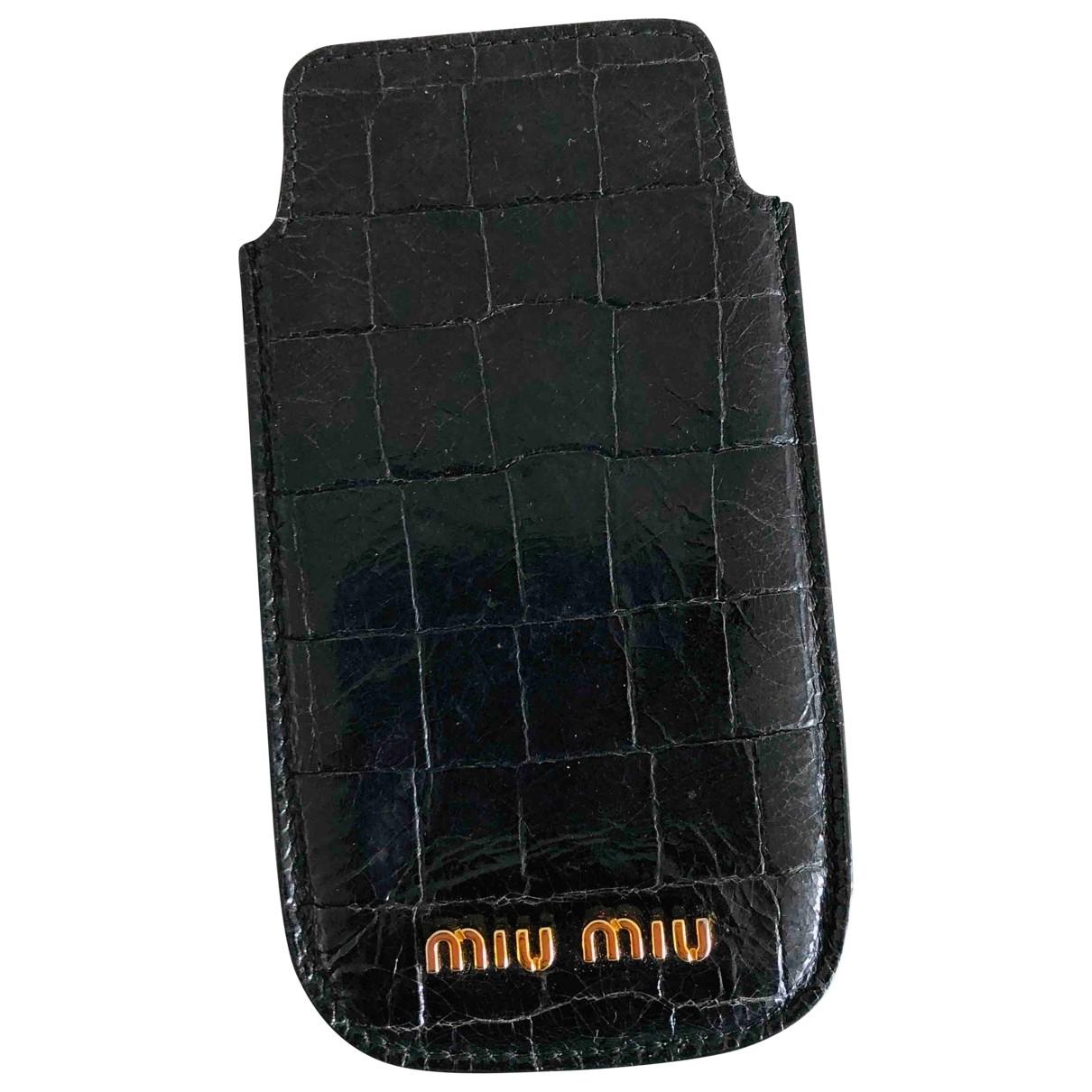 Miu Miu \N Accessoires in  Schwarz Leder
