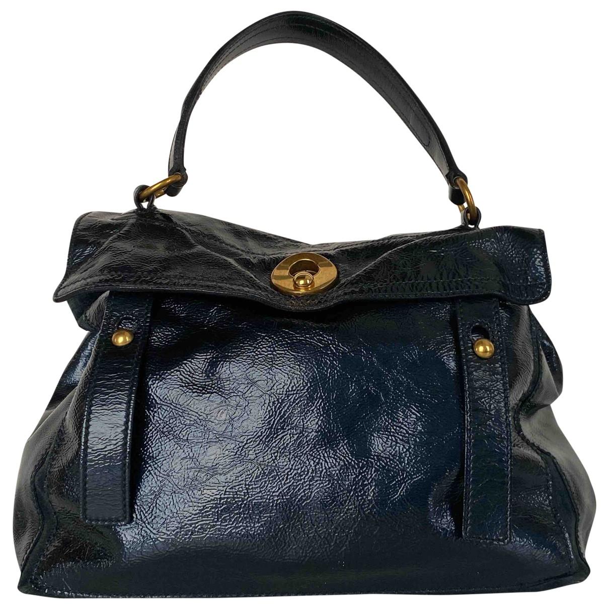 Saint Laurent Muse II Blue Patent leather handbag for Women \N
