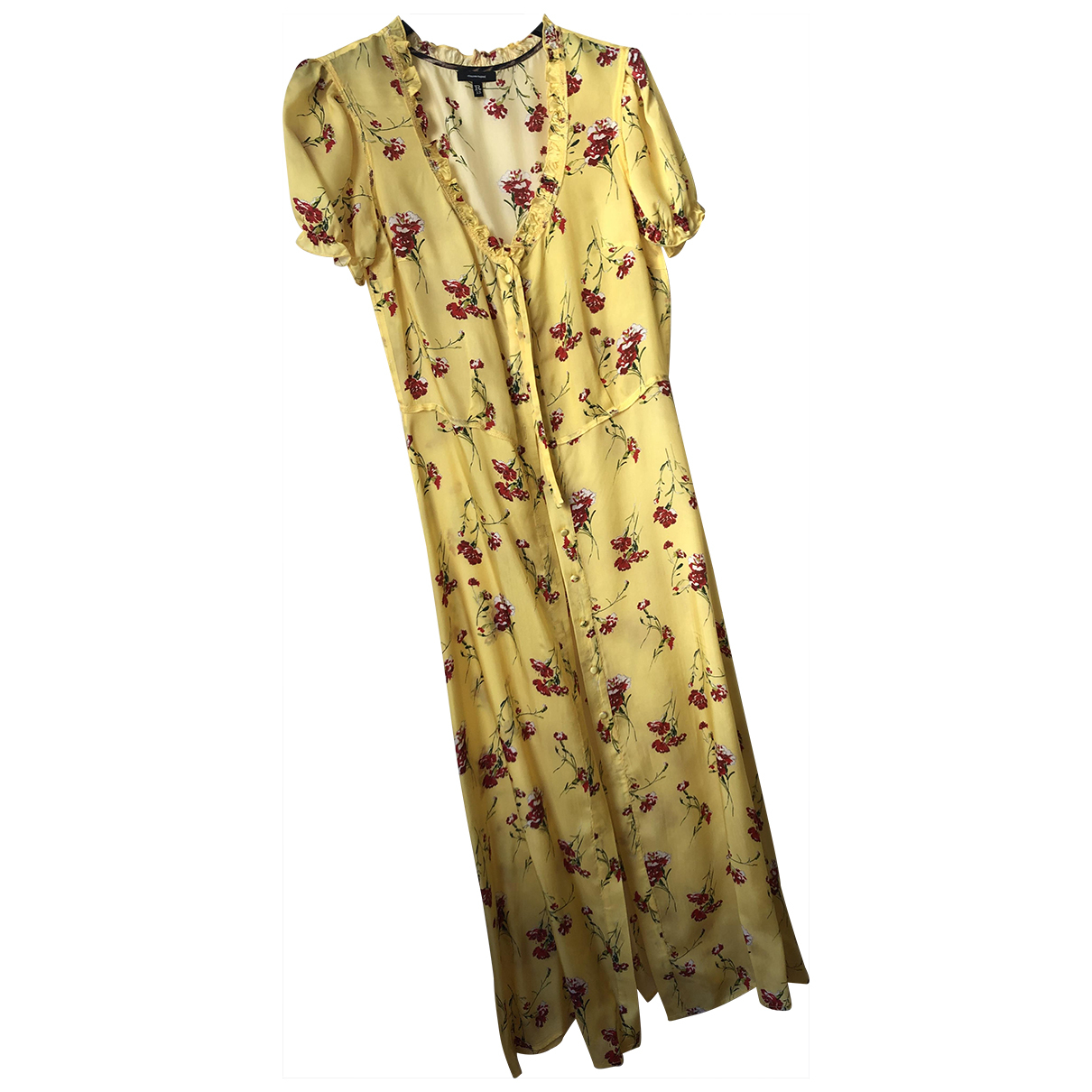R13 \N Kleid in  Gelb Viskose