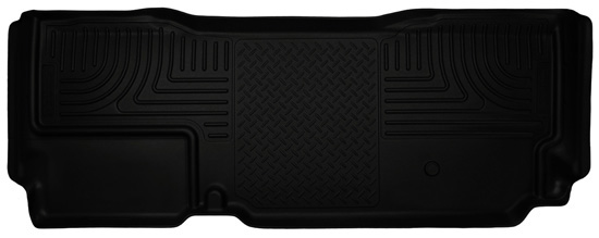 Husky Floor Liners 2nd Seat (Full Coverage) 11-15 F Series SuperCab WeatherBeater-Black