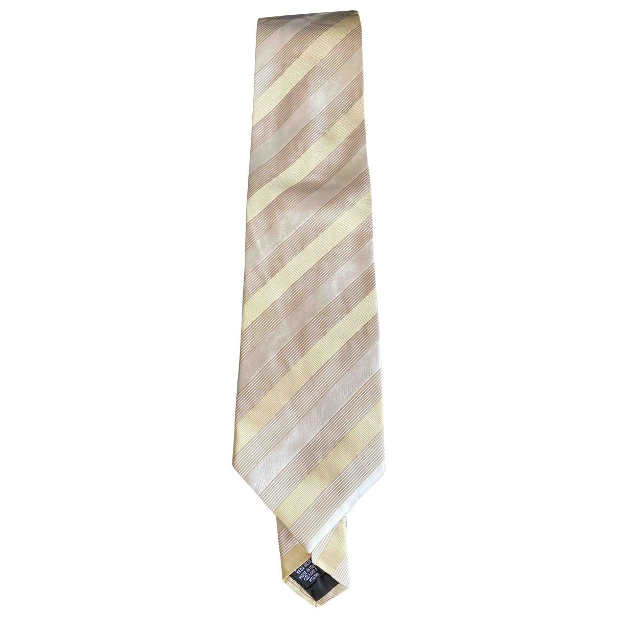 Hugo Boss \N Krawatten in  Gelb Seide