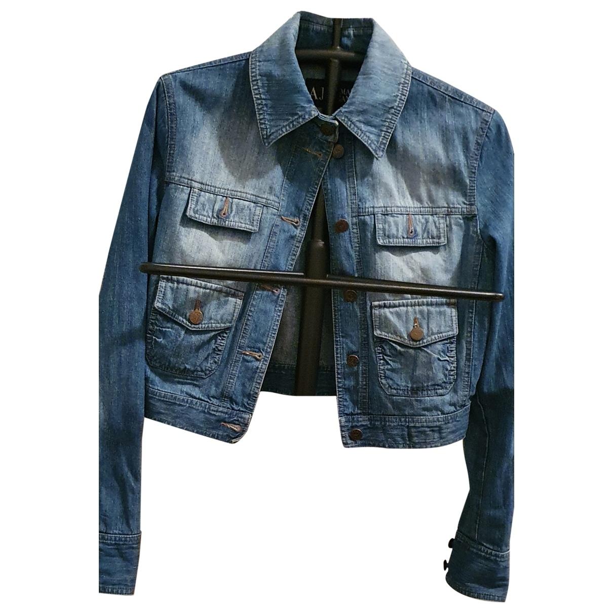 Armani Jeans \N Denim - Jeans jacket for Women 40 IT