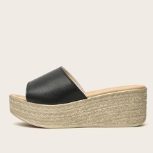 Open Toe Platform Wedge Espadrilles