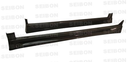 Seibon SS0203SBIMP-CW Carbon Fiber CW-Style Side Skirts Subaru WRX 02-03
