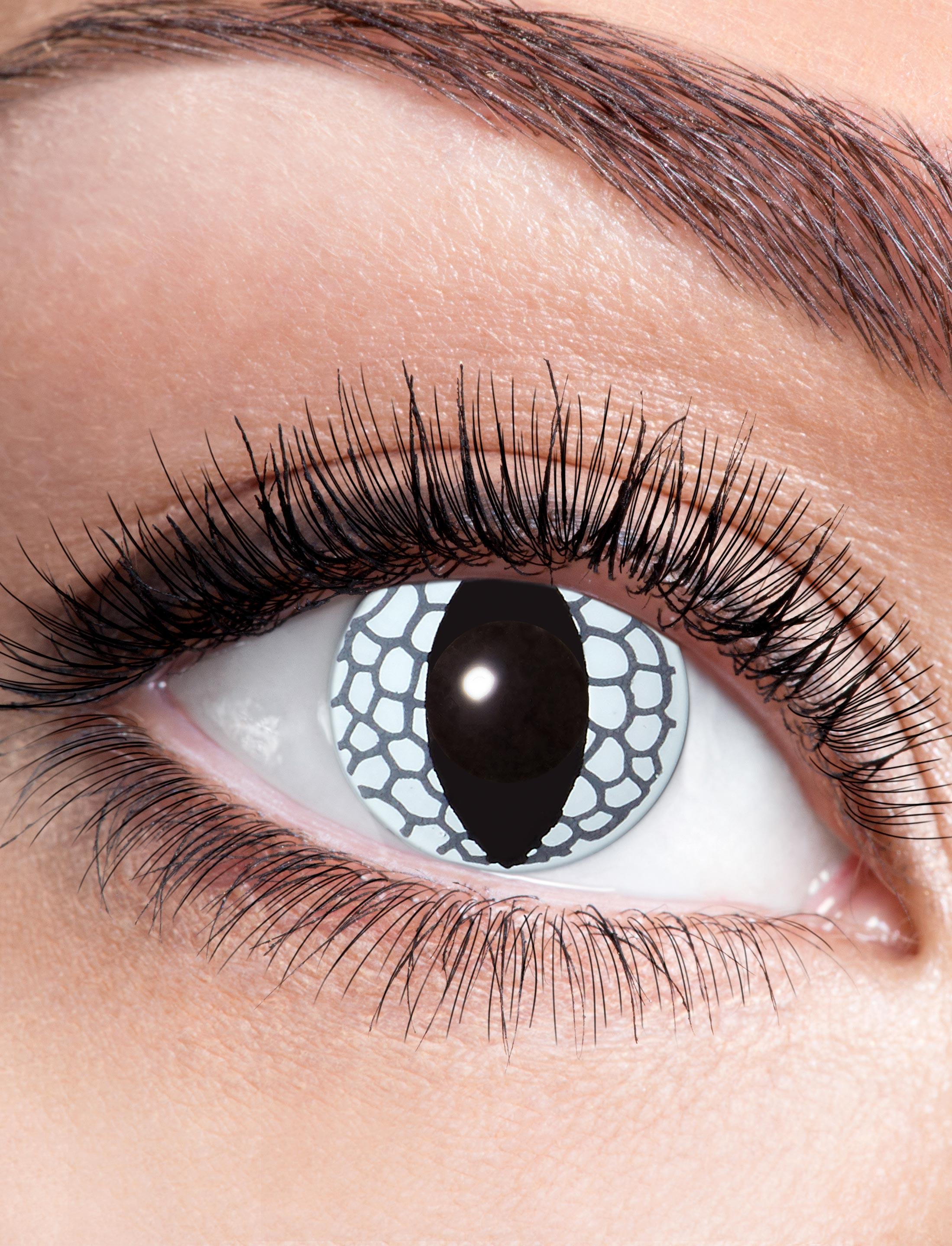 Kostuemzubehor Kontaktlinsen White Dragon Farbe: weiss