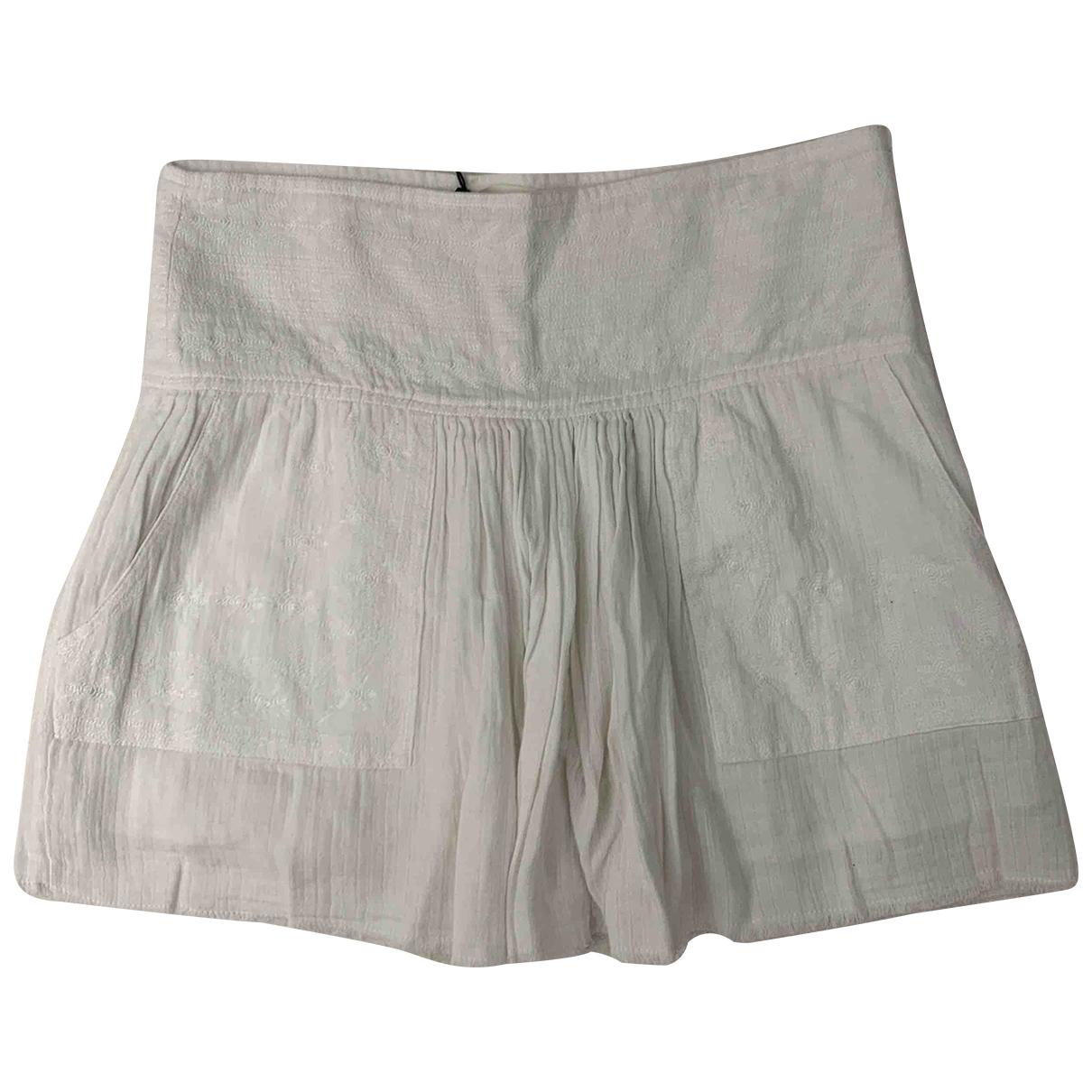 Isabel Marant Etoile - Jupe   pour femme en coton - blanc