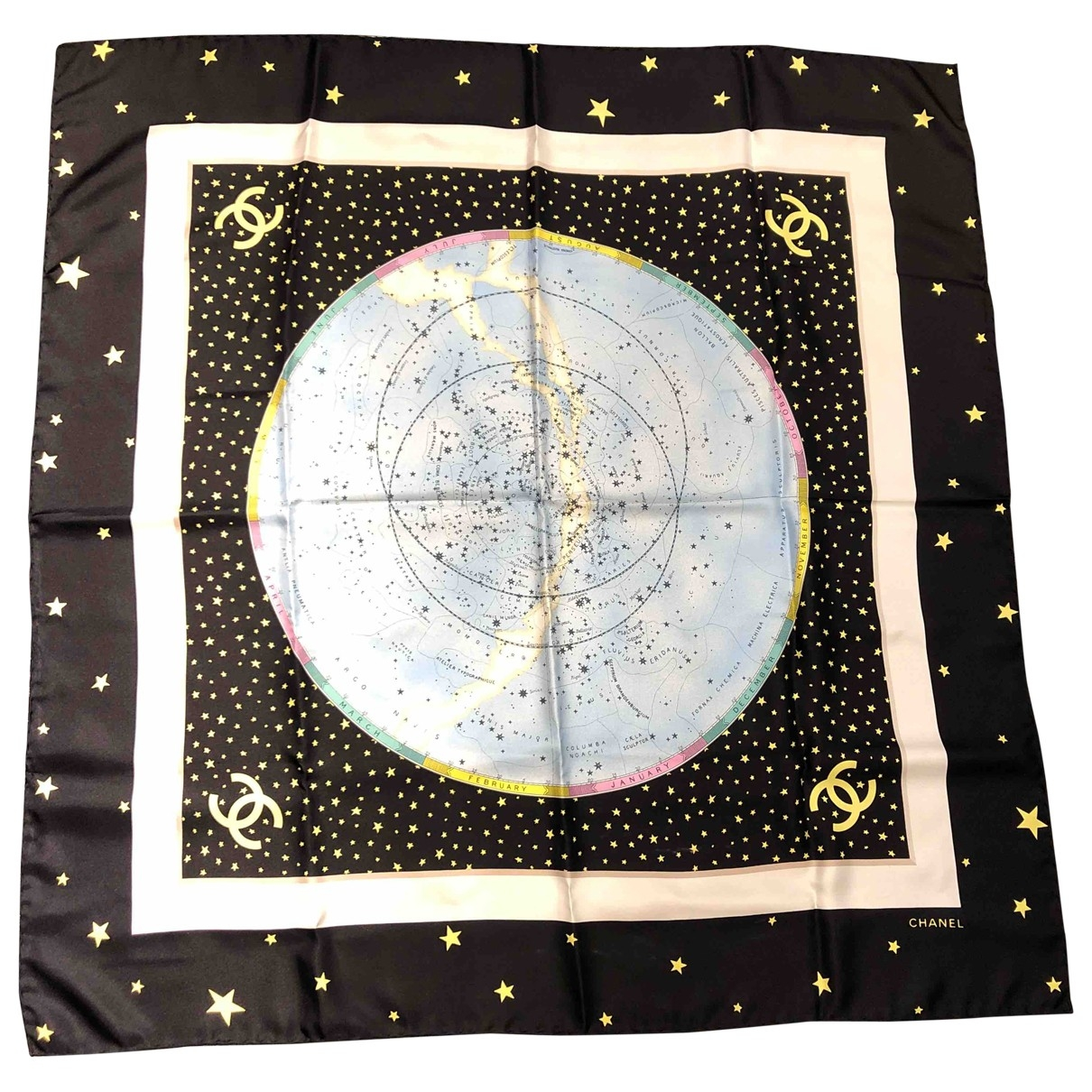 Chanel \N Black Silk Silk handkerchief for Women \N