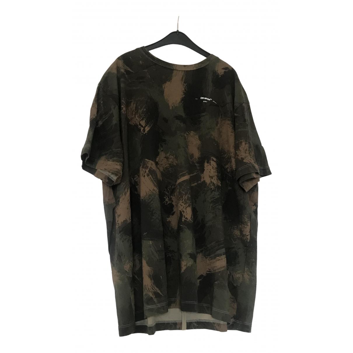 Off-white - Tee shirts   pour homme en coton - vert