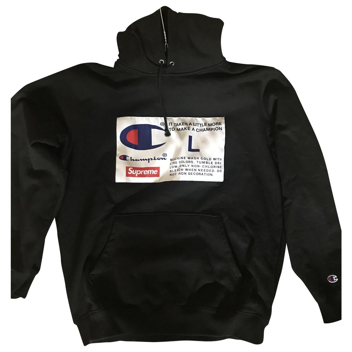 Supreme X Champion \N Black Cotton Knitwear & Sweatshirts for Men L