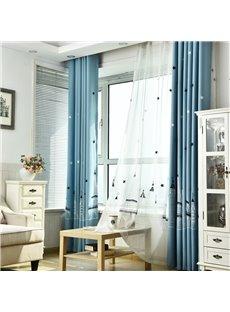 Jacquard Linen Semi-Voile 2-Pieces Grommet Top Sheer Curtain