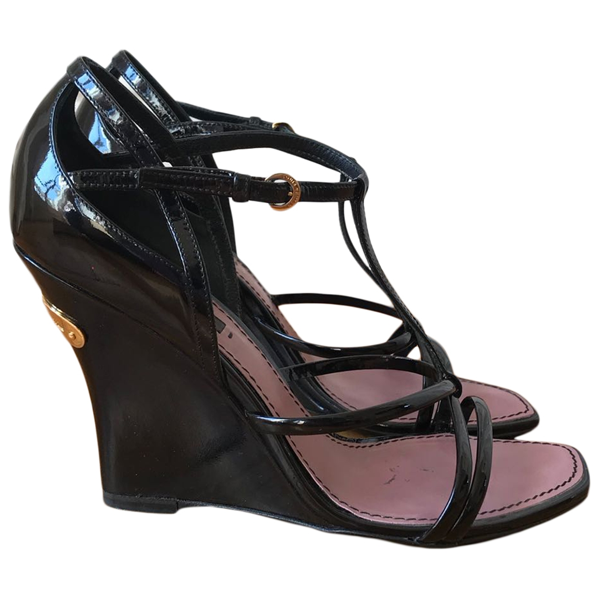 Sandalias de Charol Louis Vuitton