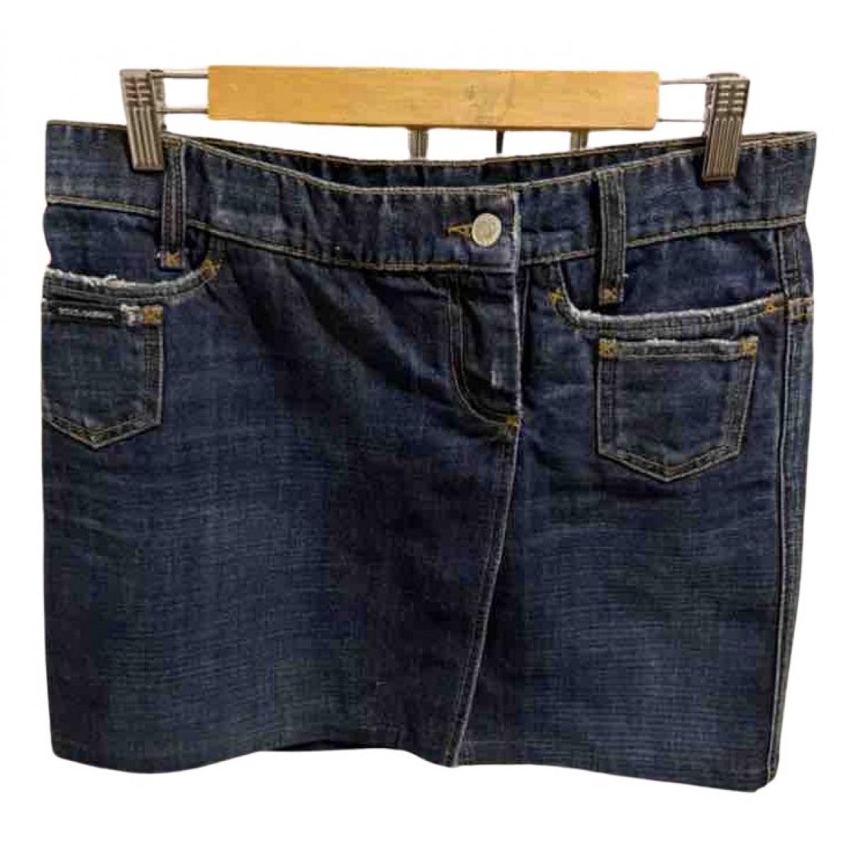 Dolce & Gabbana N Blue Denim - Jeans skirt for Women 40 IT