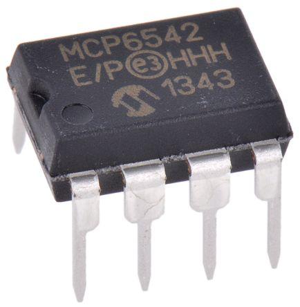 Microchip MCP6542-E/P , Dual Comparator, Push-Pull O/P, 1.6 to 5.5 V 8-Pin PDIP (10)