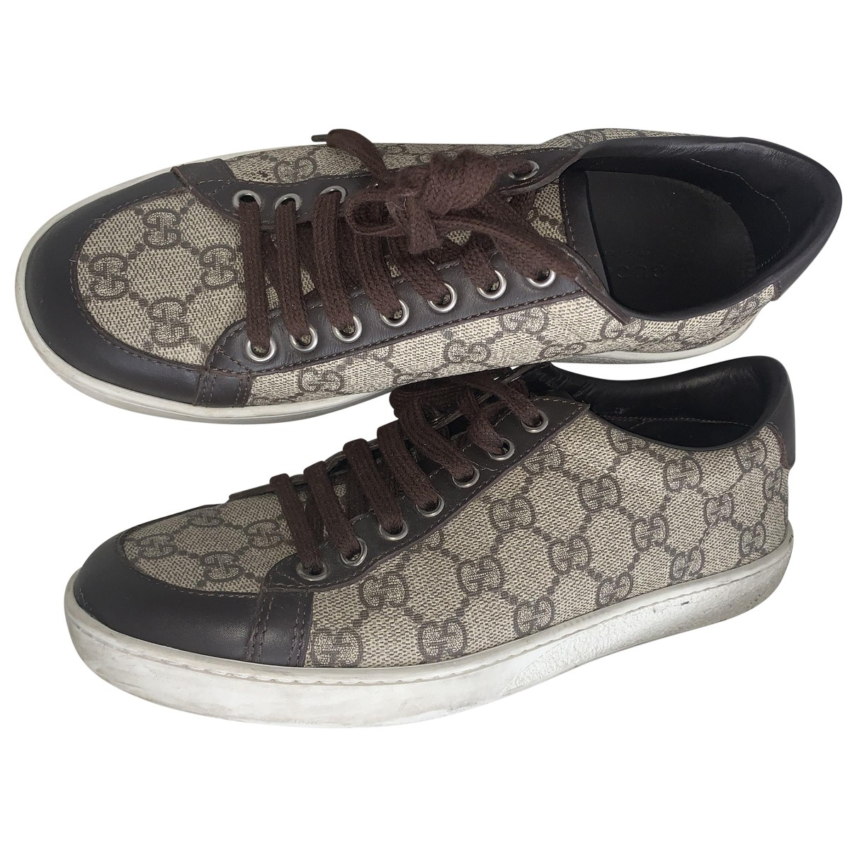 Gucci \N Brown Leather Trainers for Women 5 UK