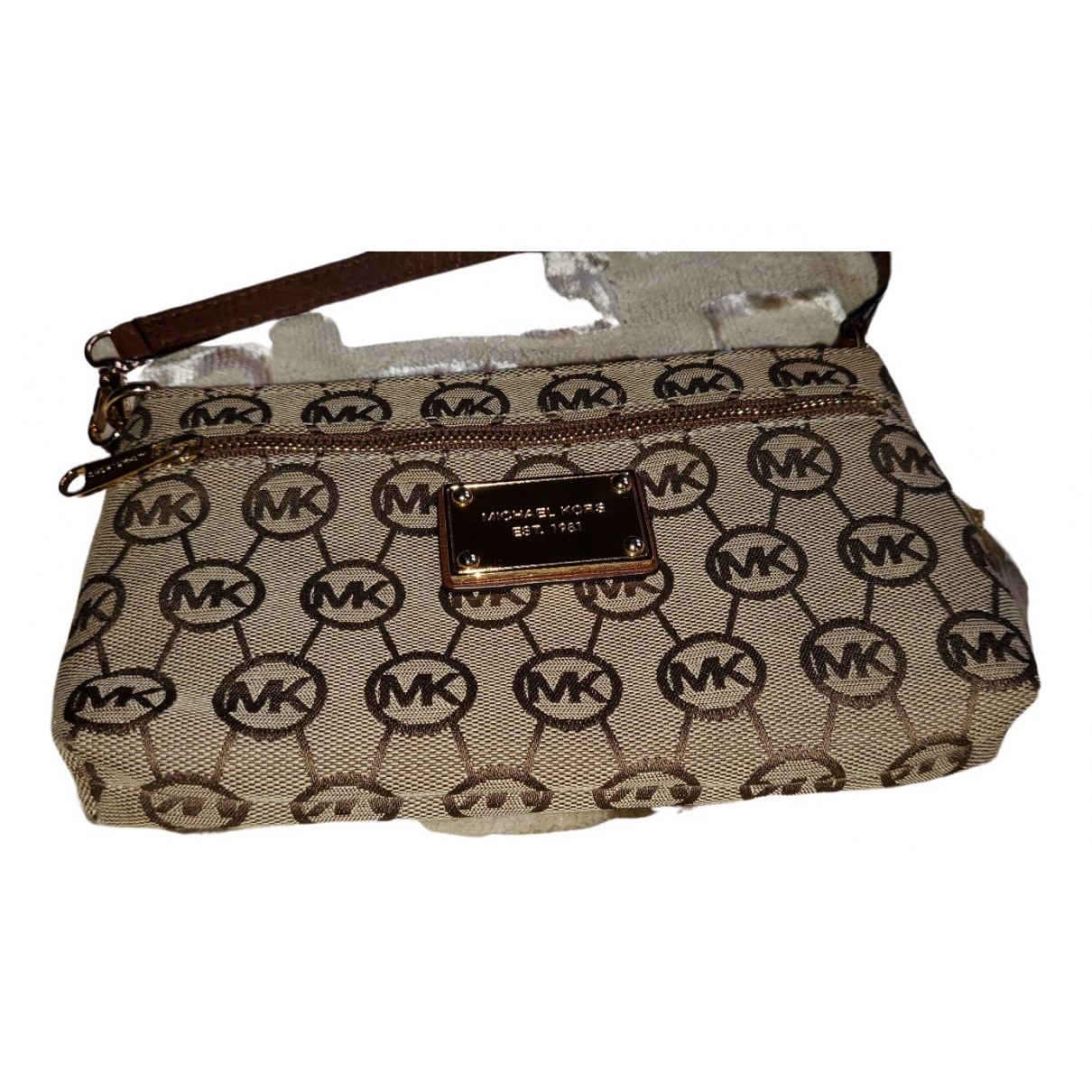 Michael Kors \N Clutch in  Kamel Leinen