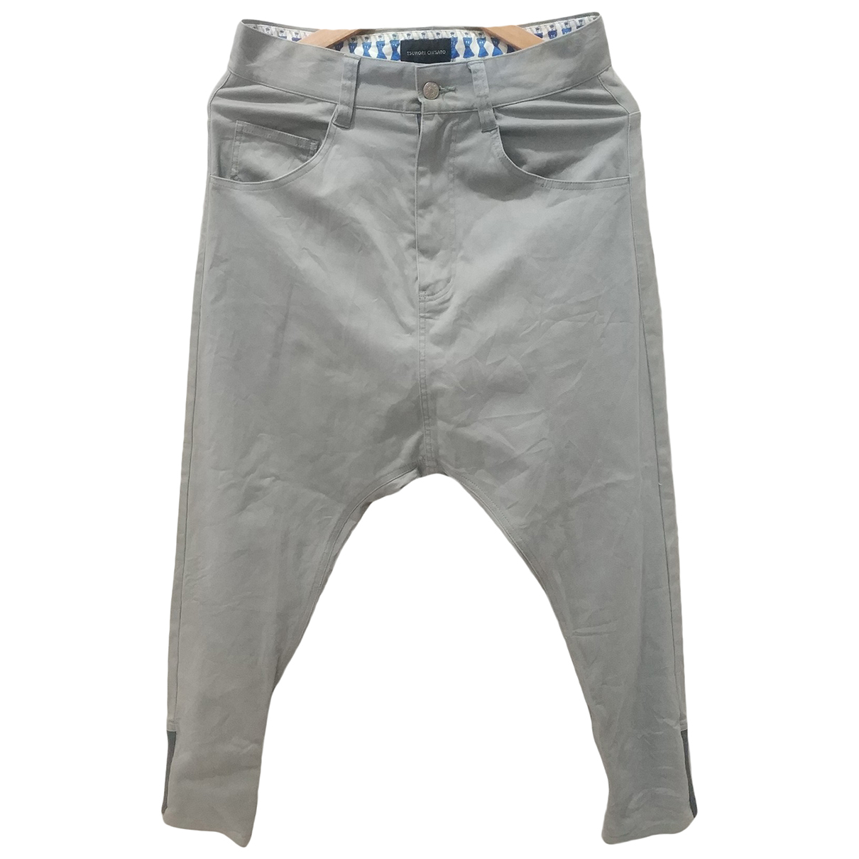 Pantalones en Algodon Azul Tsumori Chisato