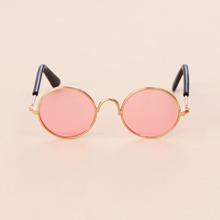 Katze Sonnenbrille mit runden Linsen