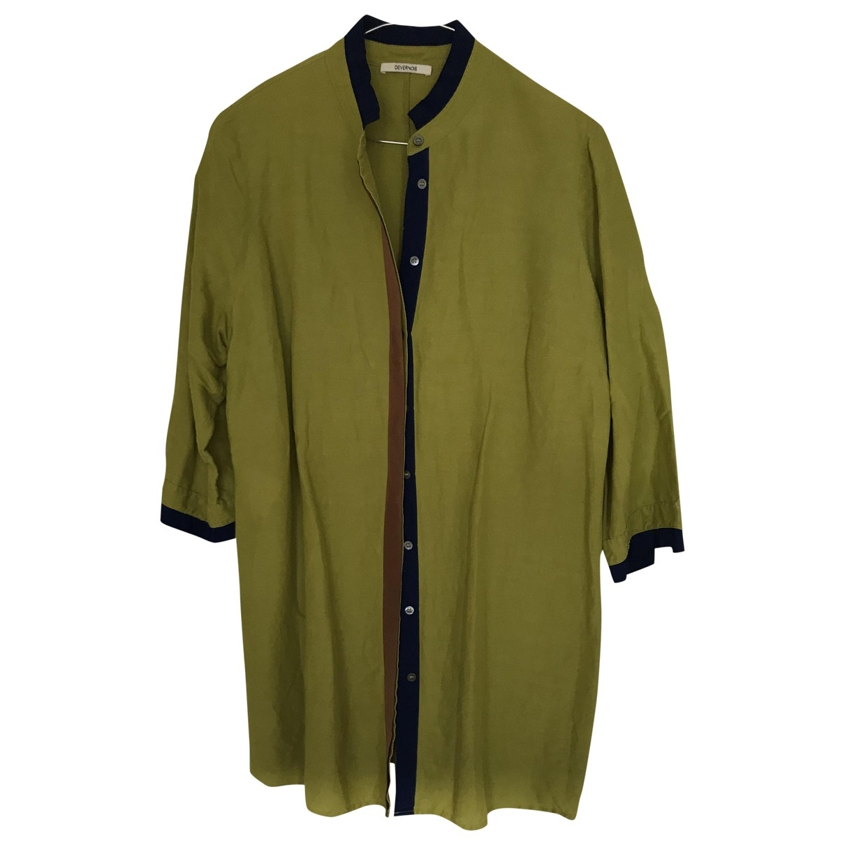 Non Signé / Unsigned \N Green Silk  top for Women 44 FR