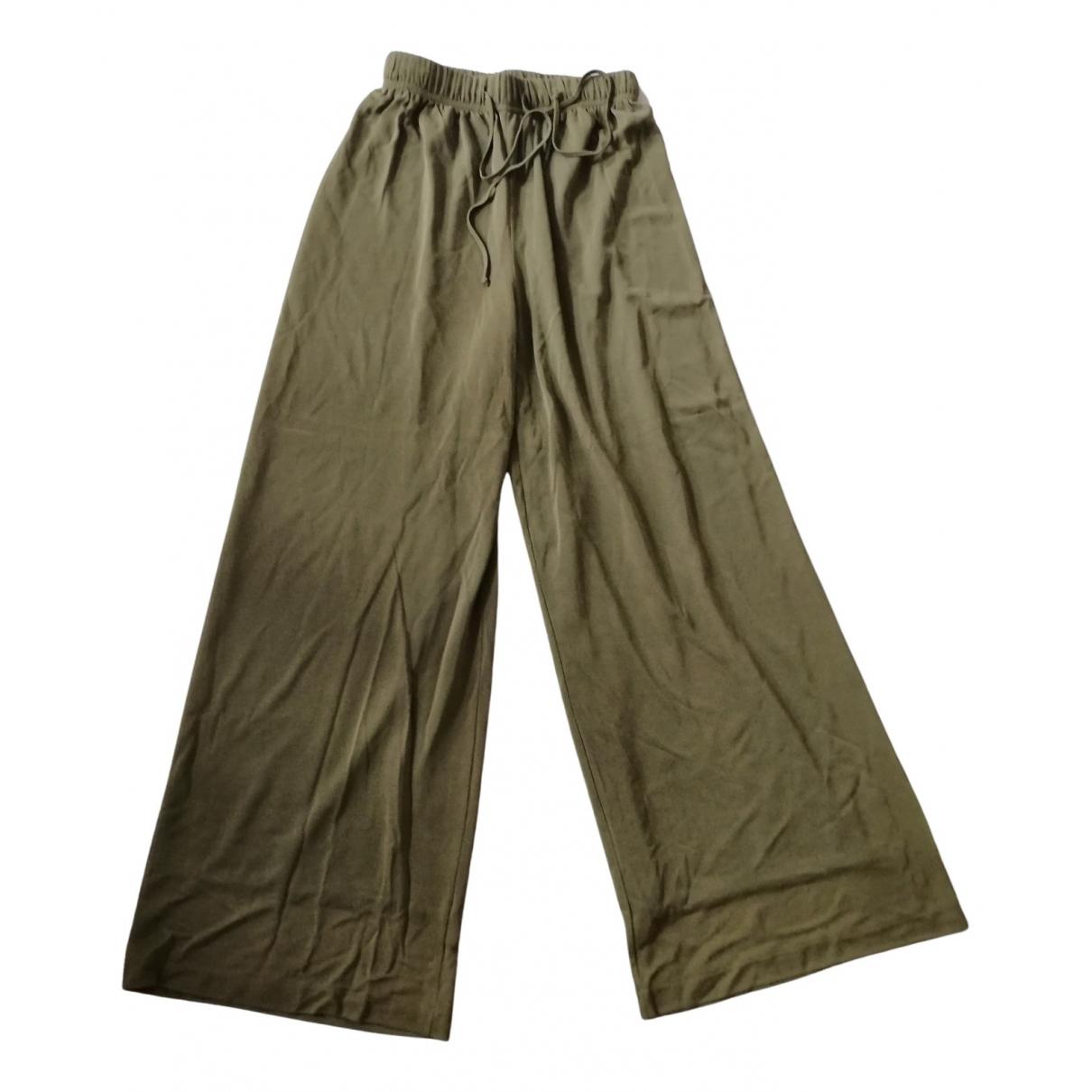 Marella N Green Trousers for Women 38 IT