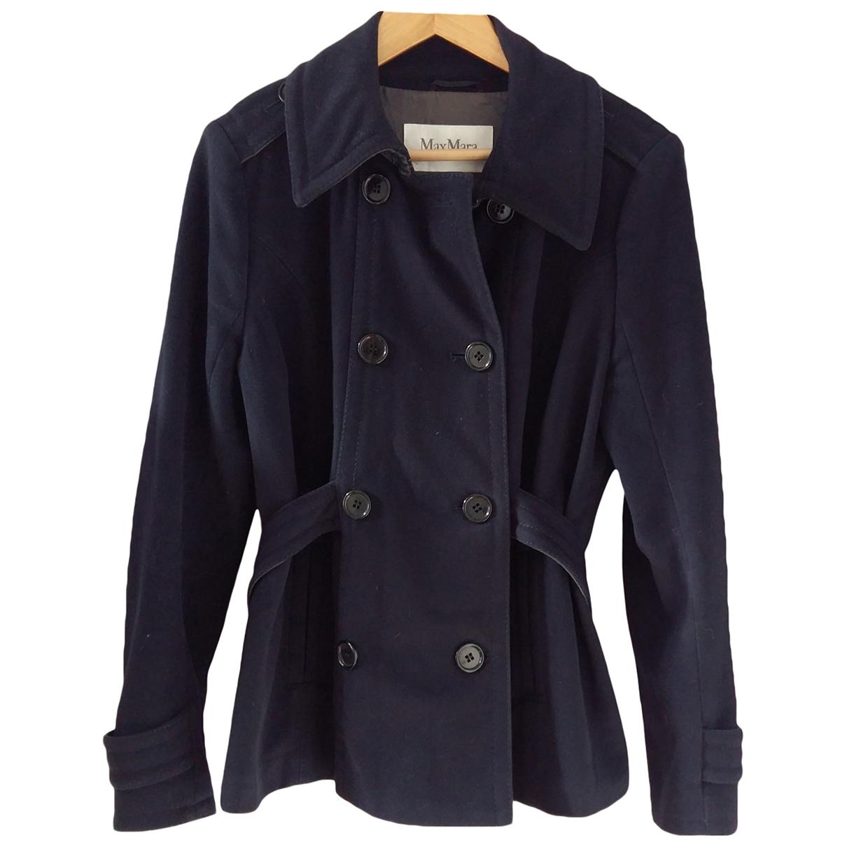 Max Mara - Manteau   pour femme en cachemire - bleu