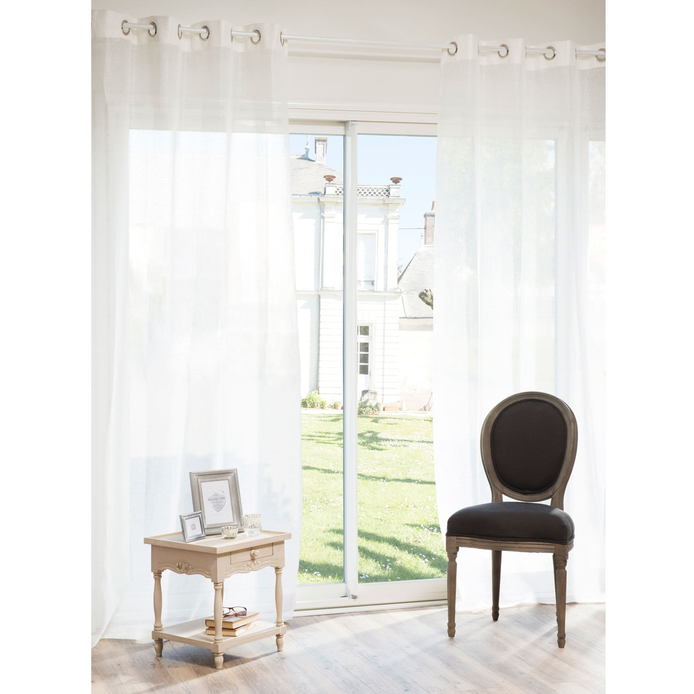 Osenvorhang aus ecru Leinen, 140x250, 1 Vorhang