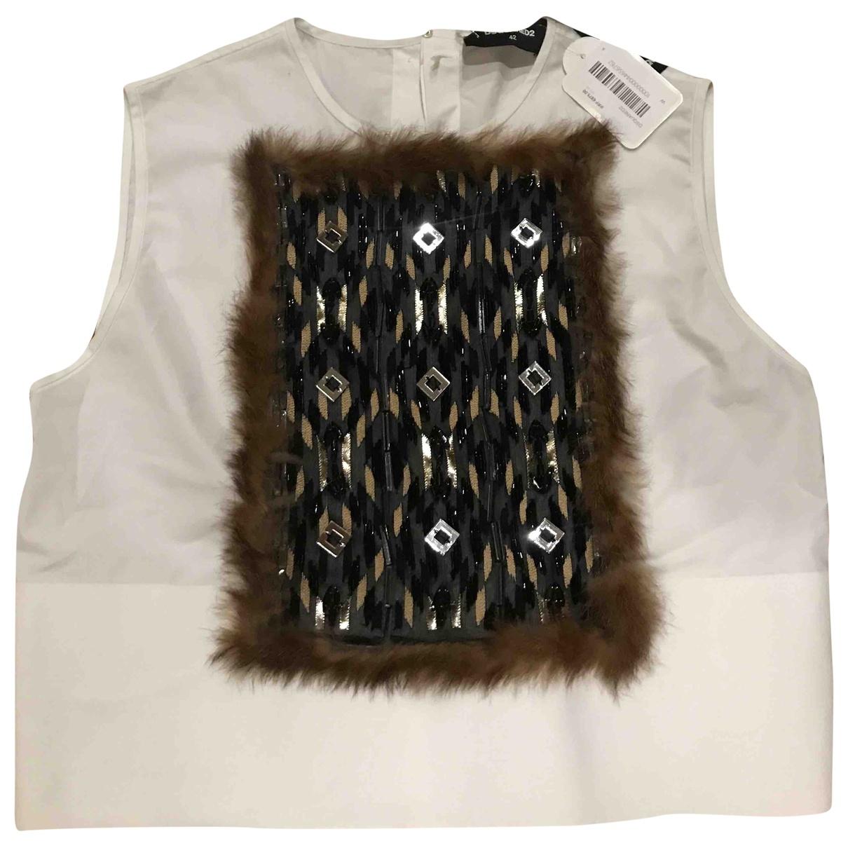 Dsquared2 - Top   pour femme en coton - blanc