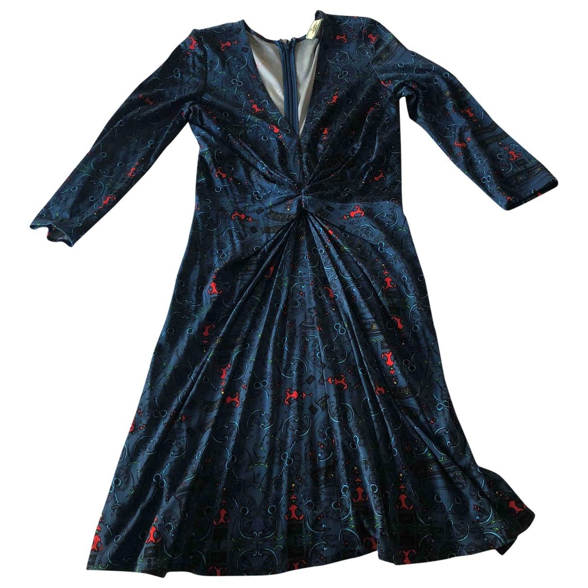 Issa \N Kleid in  Blau Seide
