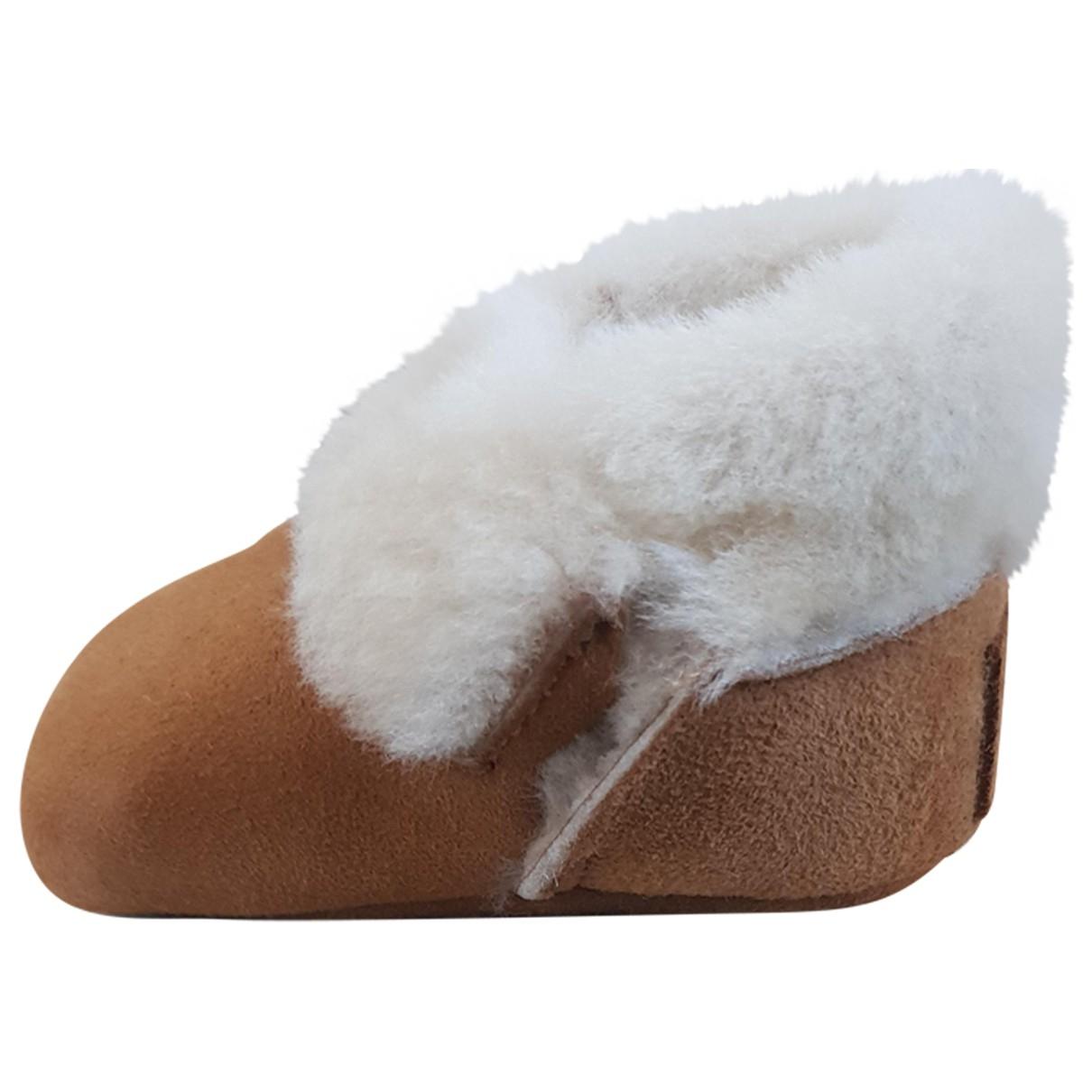 Ugg \N Hausschuhe in  Kamel Wolle