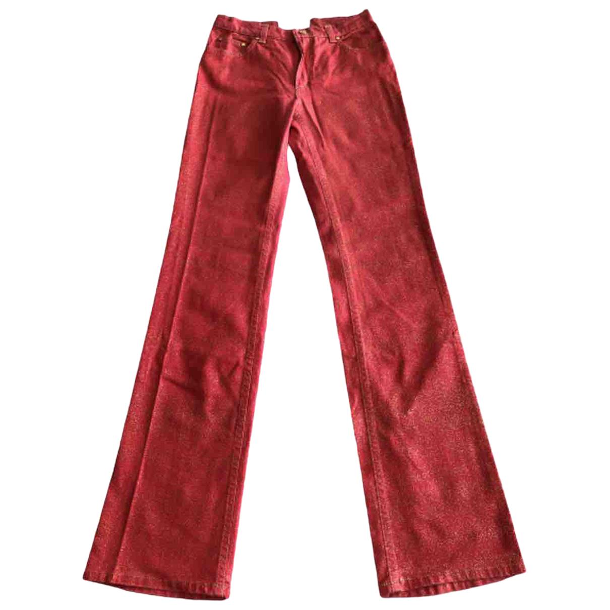 Roberto Cavalli \N Pink Cotton Trousers for Women XS International
