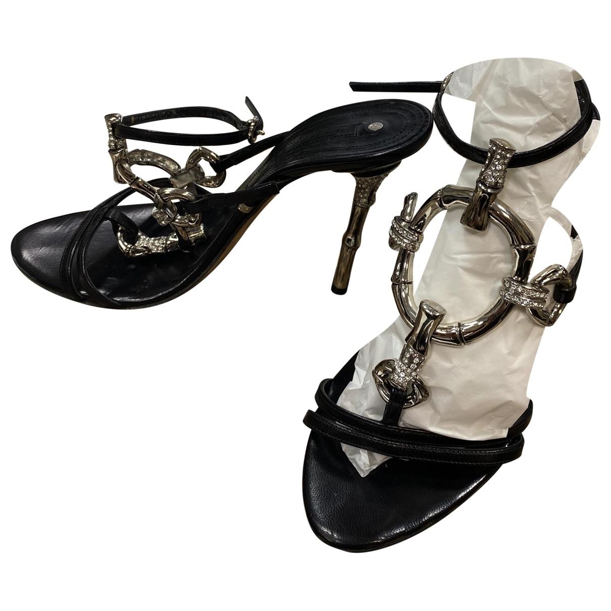 Gianmarco Lorenzi - Escarpins   pour femme en cuir - noir