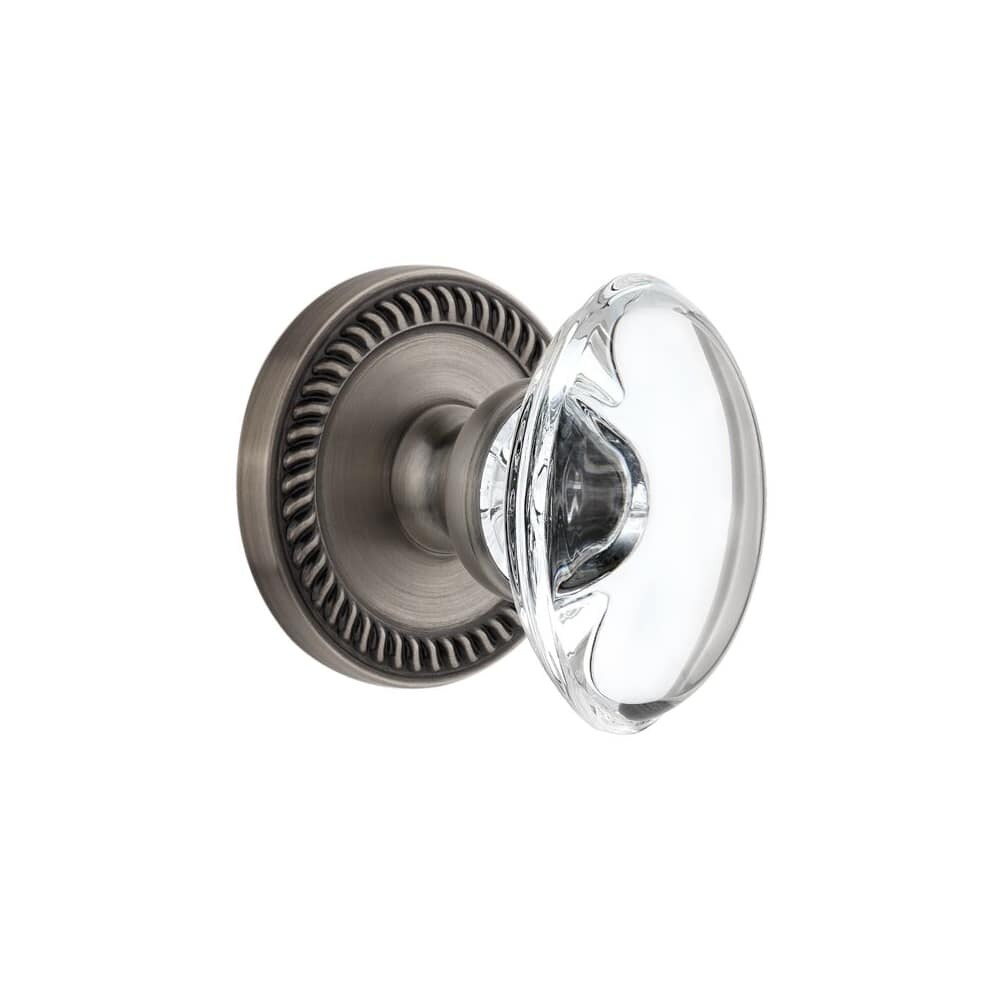 Grandeur NEWPRO_PRV_234 Newport Solid Brass Rose Privacy Door Knob Set (Lifetime Brass)