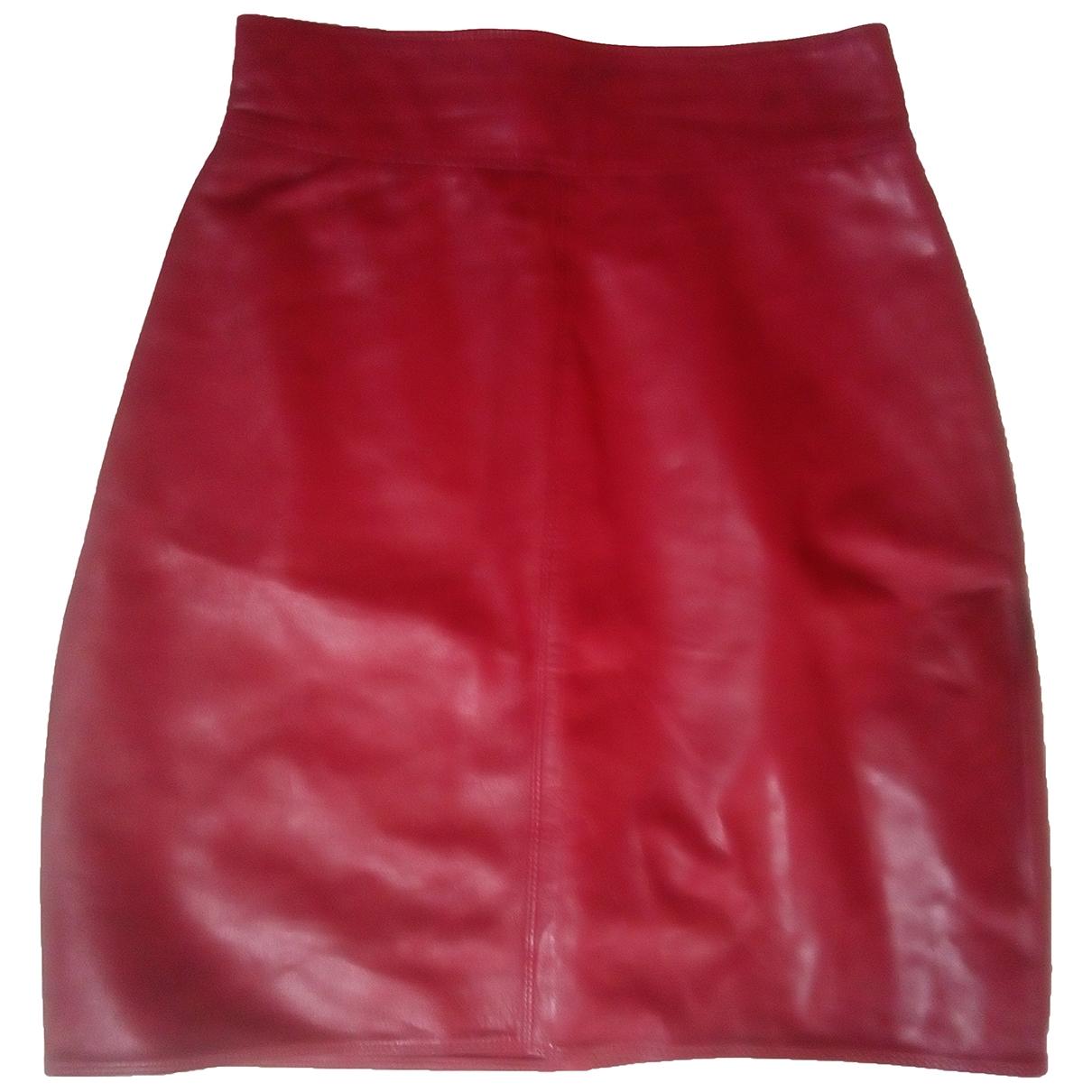 Gianni Versace \N Rocke in  Rot Leder