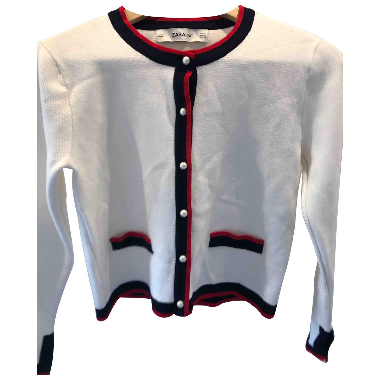 Zara \N Pullover in  Weiss Viskose